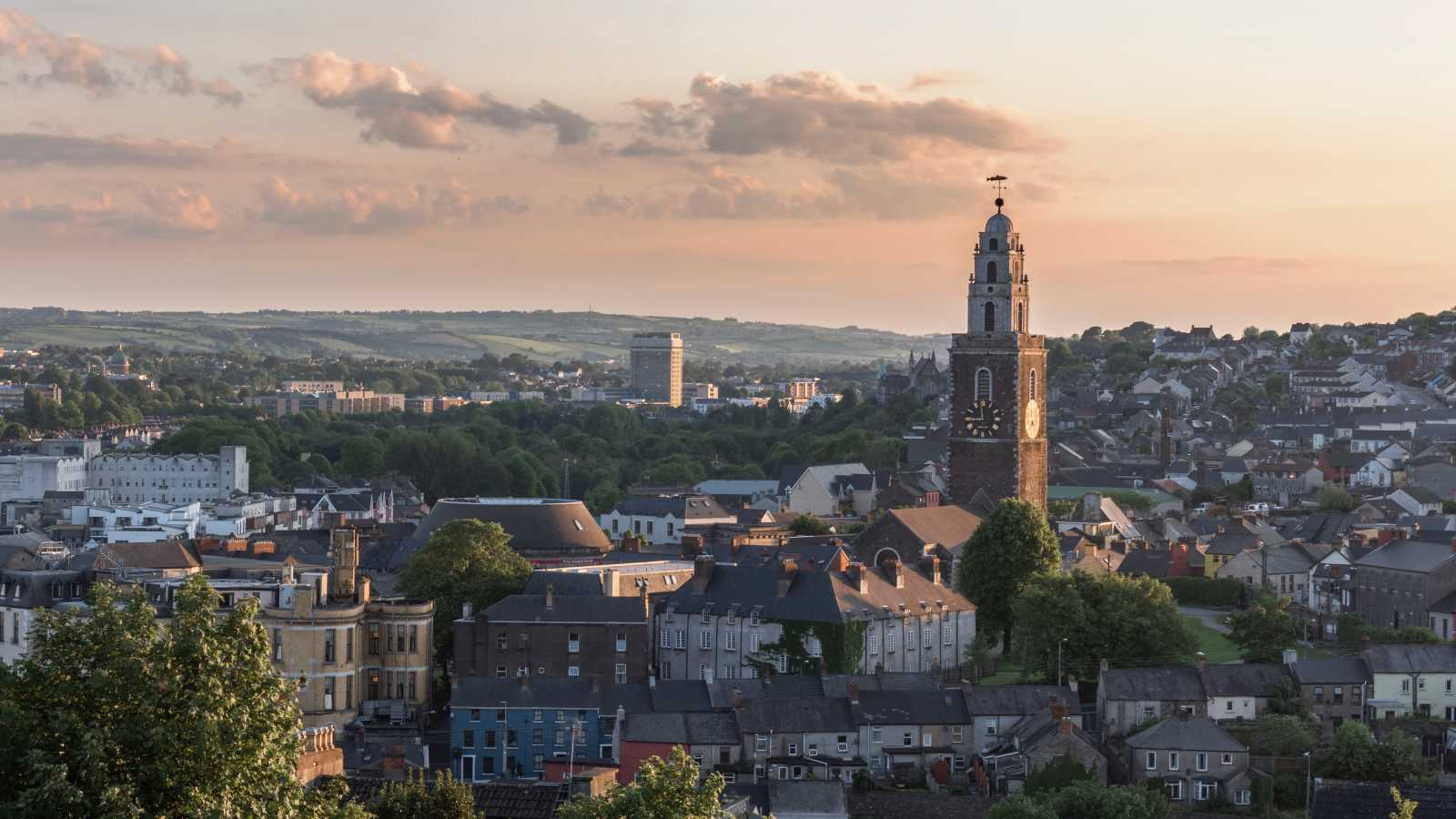 See the skyline of Cork, pictured here, on a Cork vacation