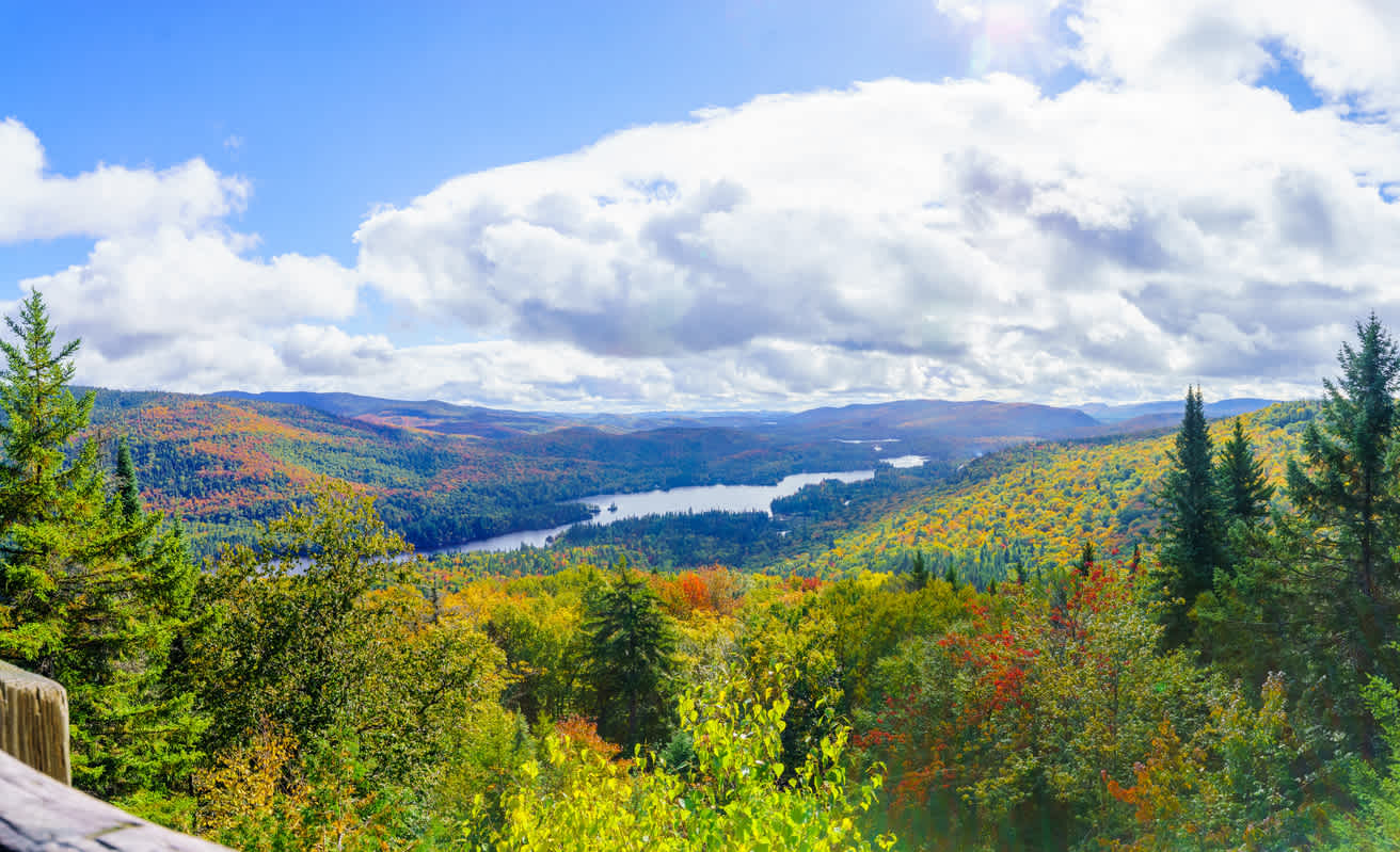 Enjoy sporty hikes in the La Pimbina Valley of Mont Tremblant National Park during your Quebec Vacation.