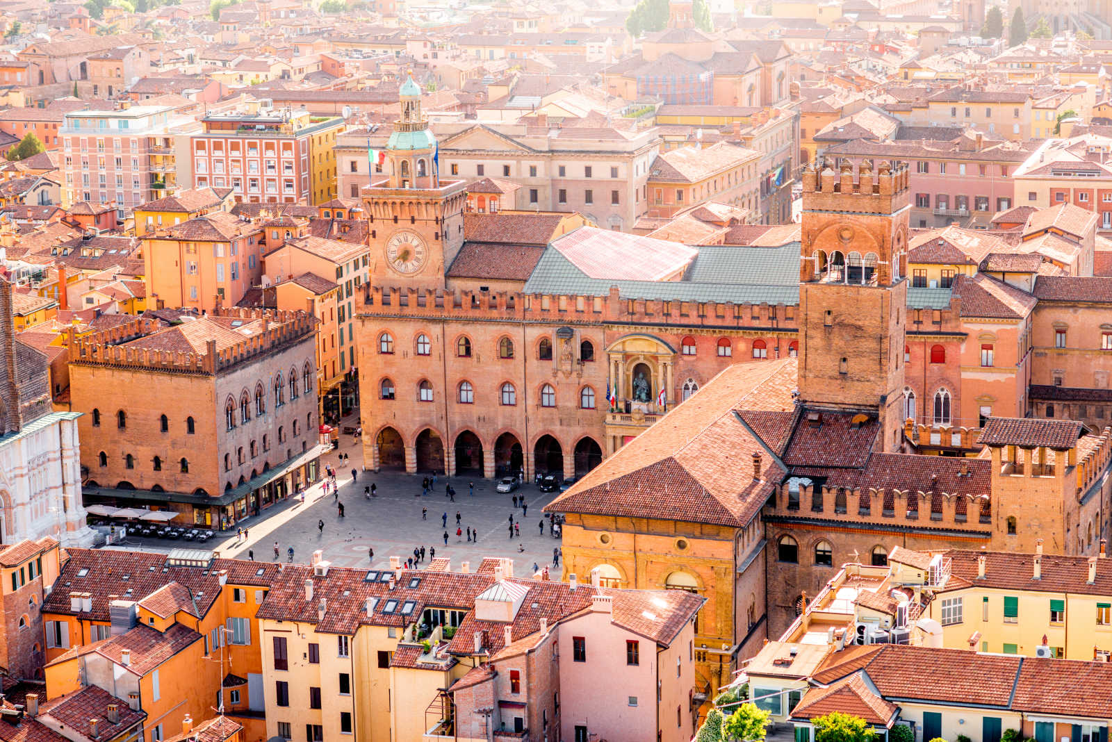 Enjoy the view of the beautiful old town on a Bologna trip