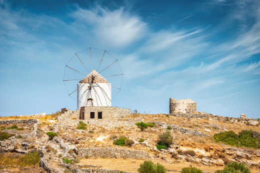 Picturesque villages with windmills - to experience on a Paros holiday.