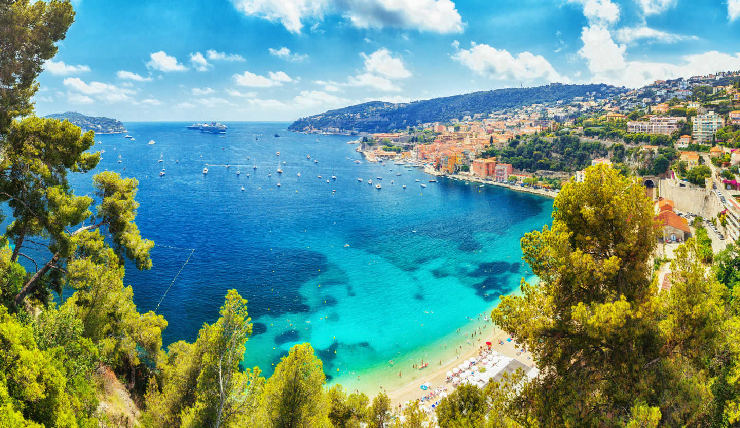 Discover the beautiful turquoise waters of the south of France, pictured here, on a French Riviera tour