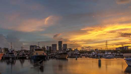 See Darwin and its waterfront at sunset on a Darwin vacation