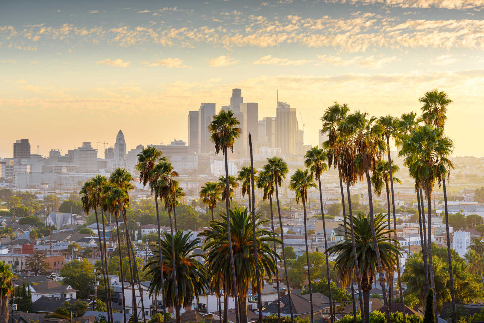 View of Los Angeles - to experience on a USA West Coast round trip