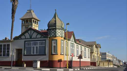 A colourful house in Swakopmund, Namibia