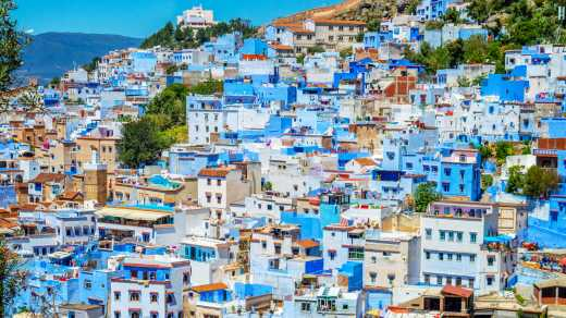 The beautiful blueness of Chefchaouen in Morocco