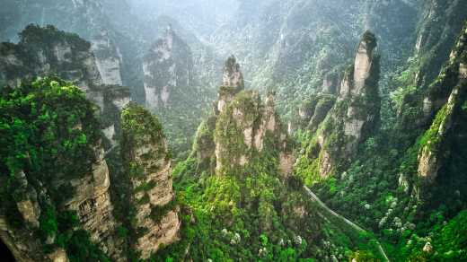 Avatar Weg ins Tal, Berge in Zhangjiajie, China