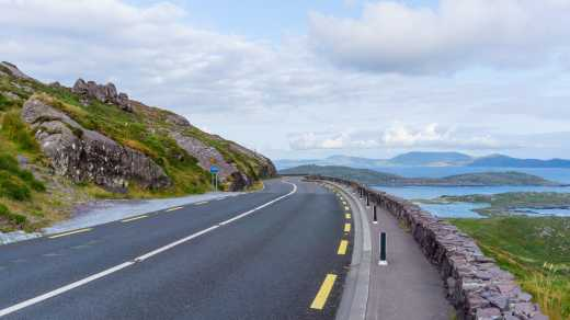 Straße am Ring of Kerry Irland