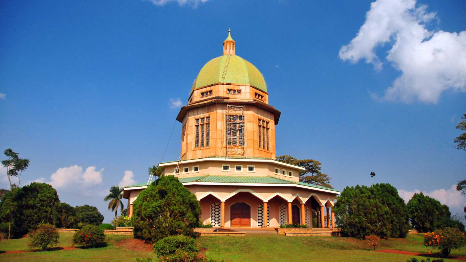 View of the Bahai Temple in Kampala Uganda