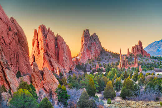 Admire the breathtaking Colorado Springs during your American West Tour.
