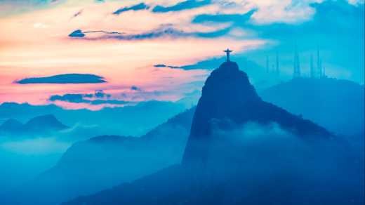 Take a look at the statue of Christ in Rio de Janeiro on your round trip through Brazil