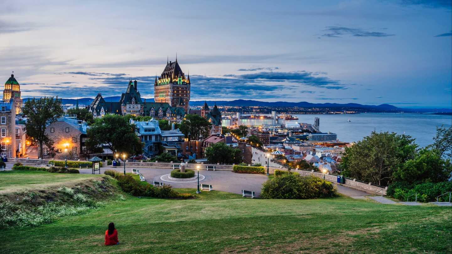 Terasse Pierre Dugua De Mons in Quebec-City, Canada