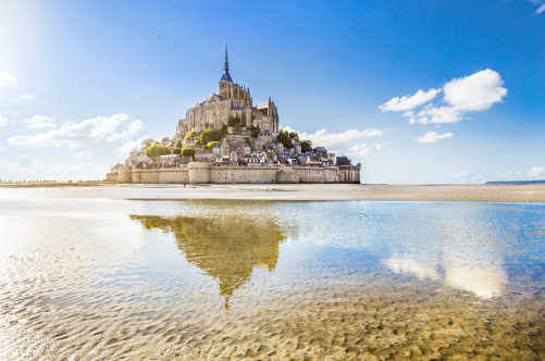 Discover the famous Le Mont Saint-Michel on its tidal island on a Northern France tour