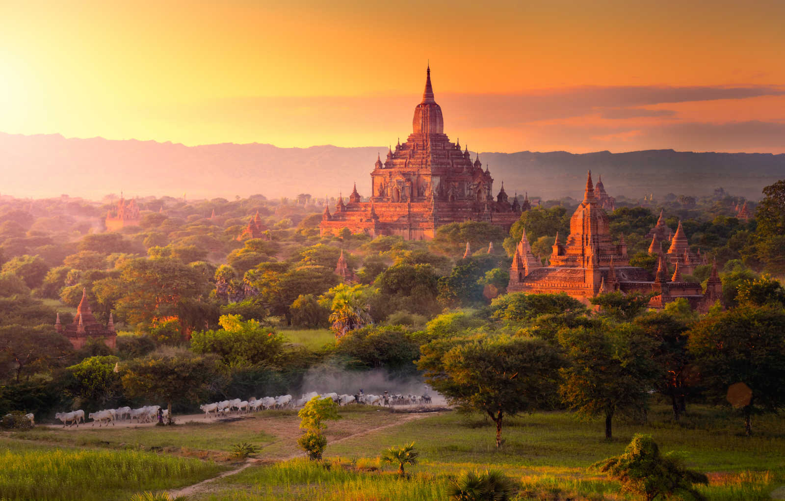 View of the temple during a Myanmar tour in Asia