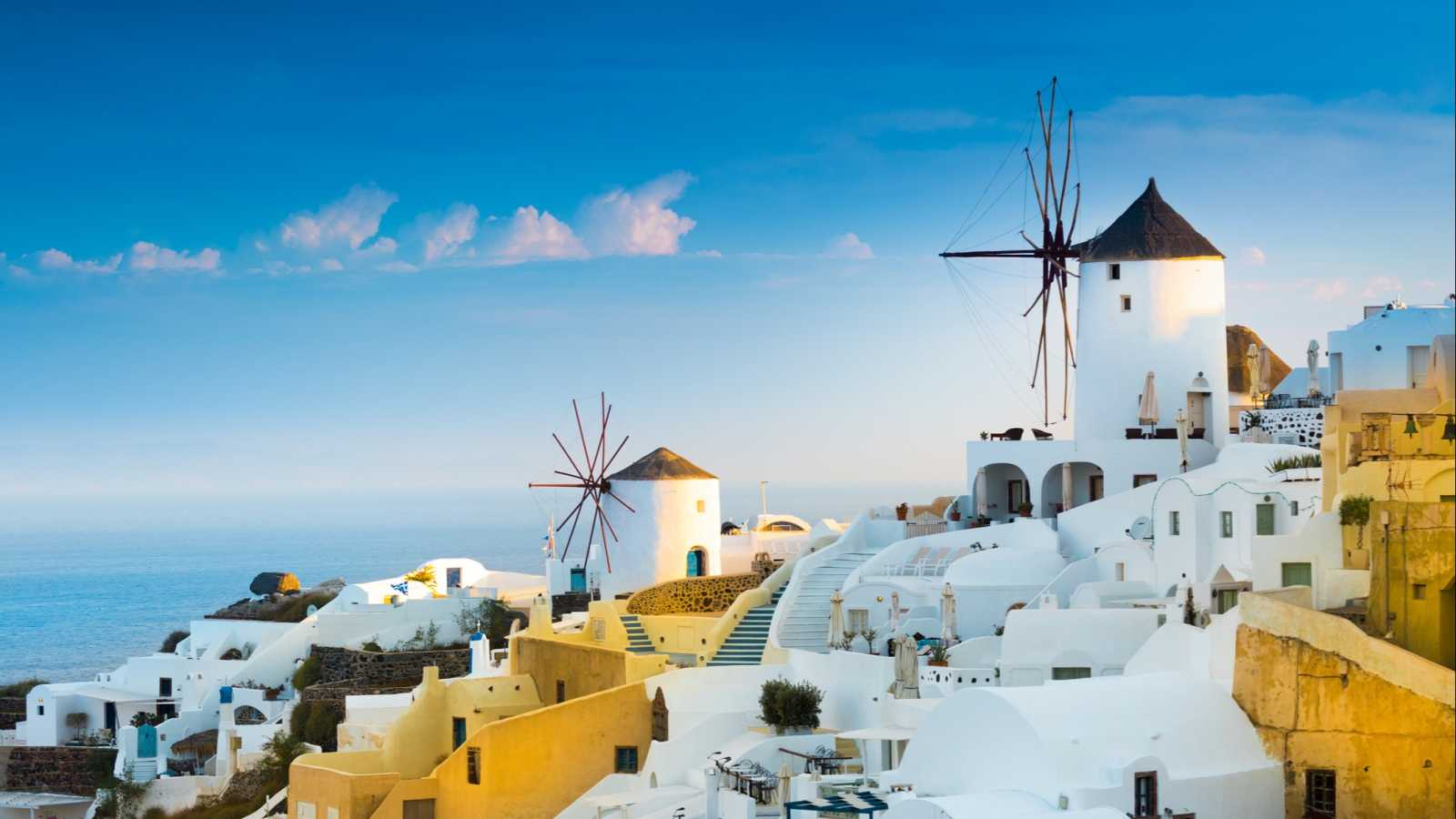 View of Oia the most beautiful village of Santorini island in Greece