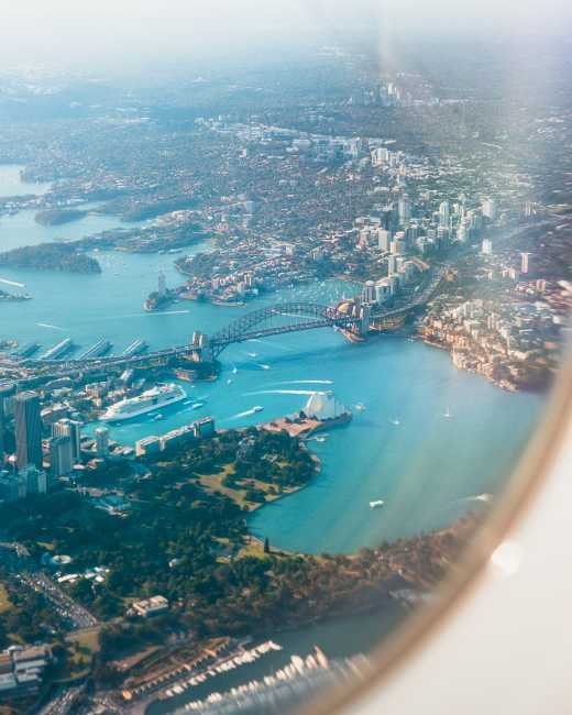 Sydney as seen from above.