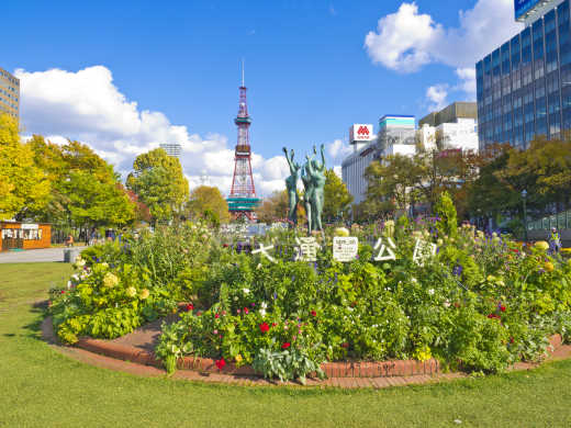 Japan Sapporo TV Tower and Odori Park