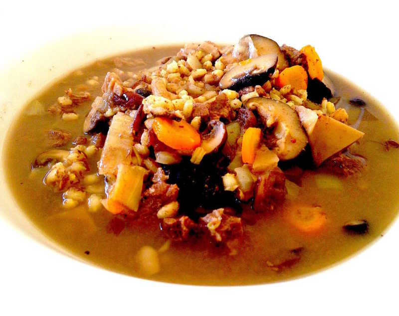 Suaasat is the national dish in Greenland - a thick stew usually with seal meat