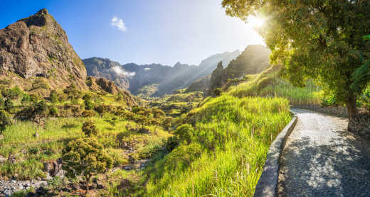 See the beautiful valley landscape of Ribeira do Paul on a Cape Verde vacation