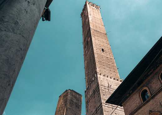 View of the towers of Bologna - worth seeing during a trip to Bologna