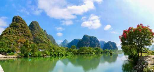 China Yangshuo River view