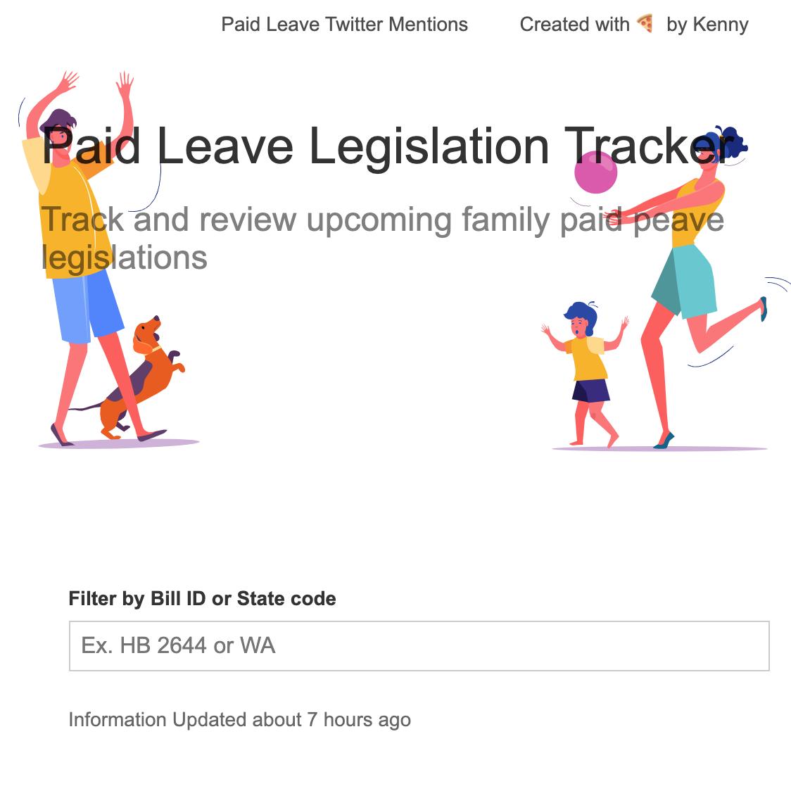 Paid Family Leave Tracker (V1) [DEPRECATED]