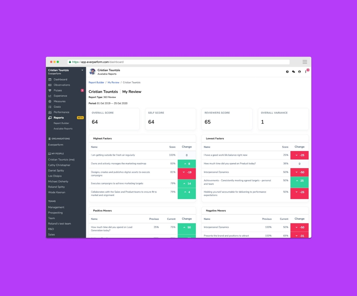 Product update: Performance reviews with 360-degree reporting