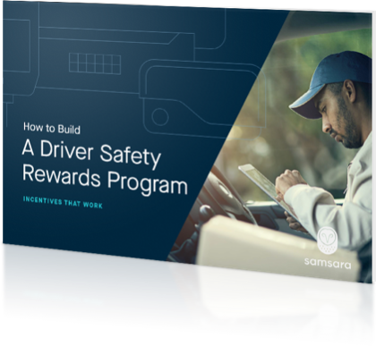A driver safety rewards program brochure cover
