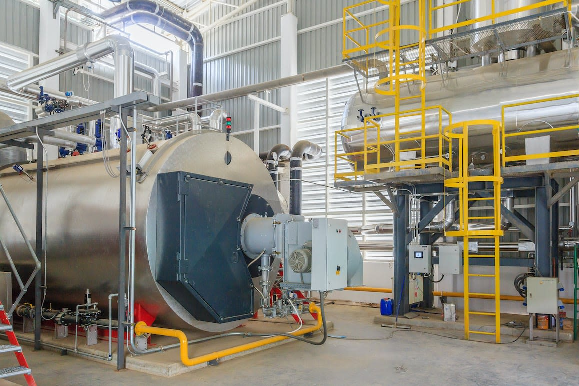 large industrial boiler