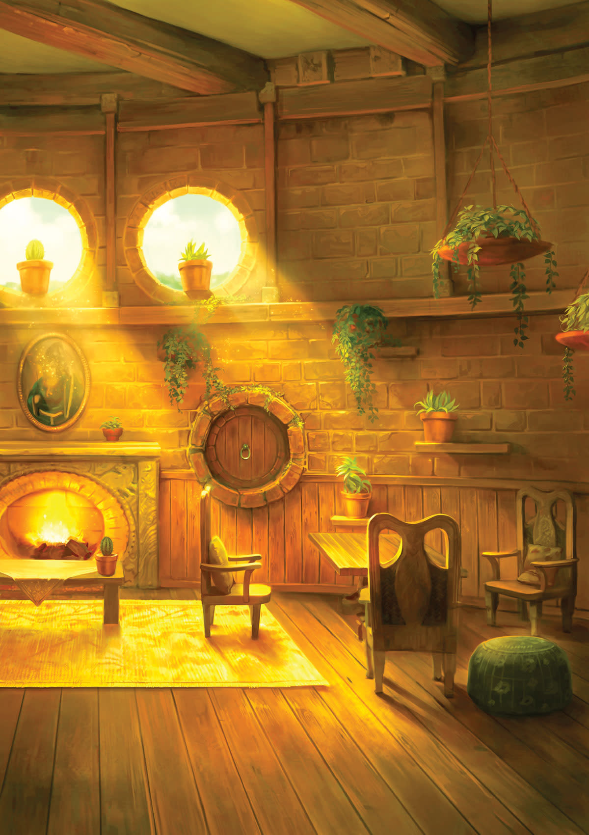 Picture of the Hufflepuff Common Room from Pottermore