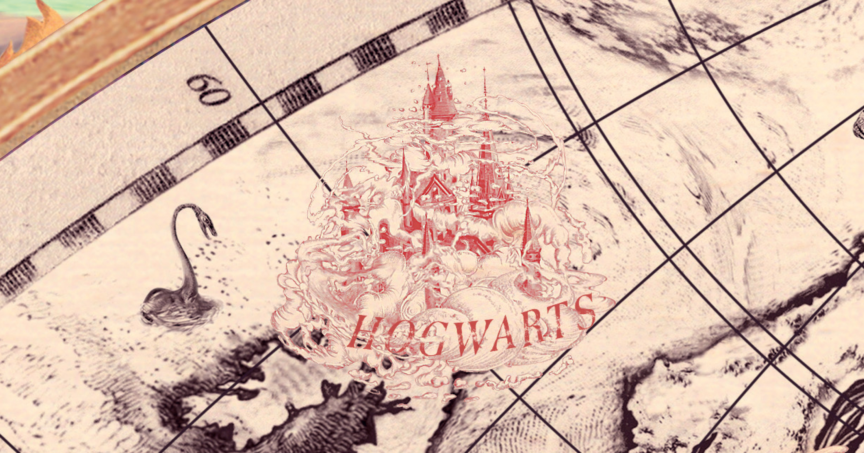 Wizarding School Hogwarts with name