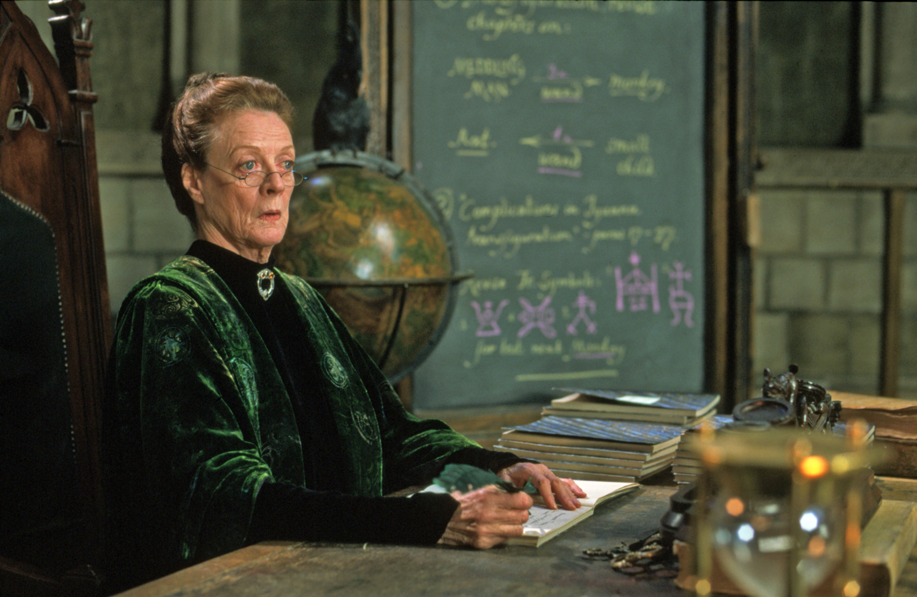 McGonagall at her desk from the Chamber of Secrets