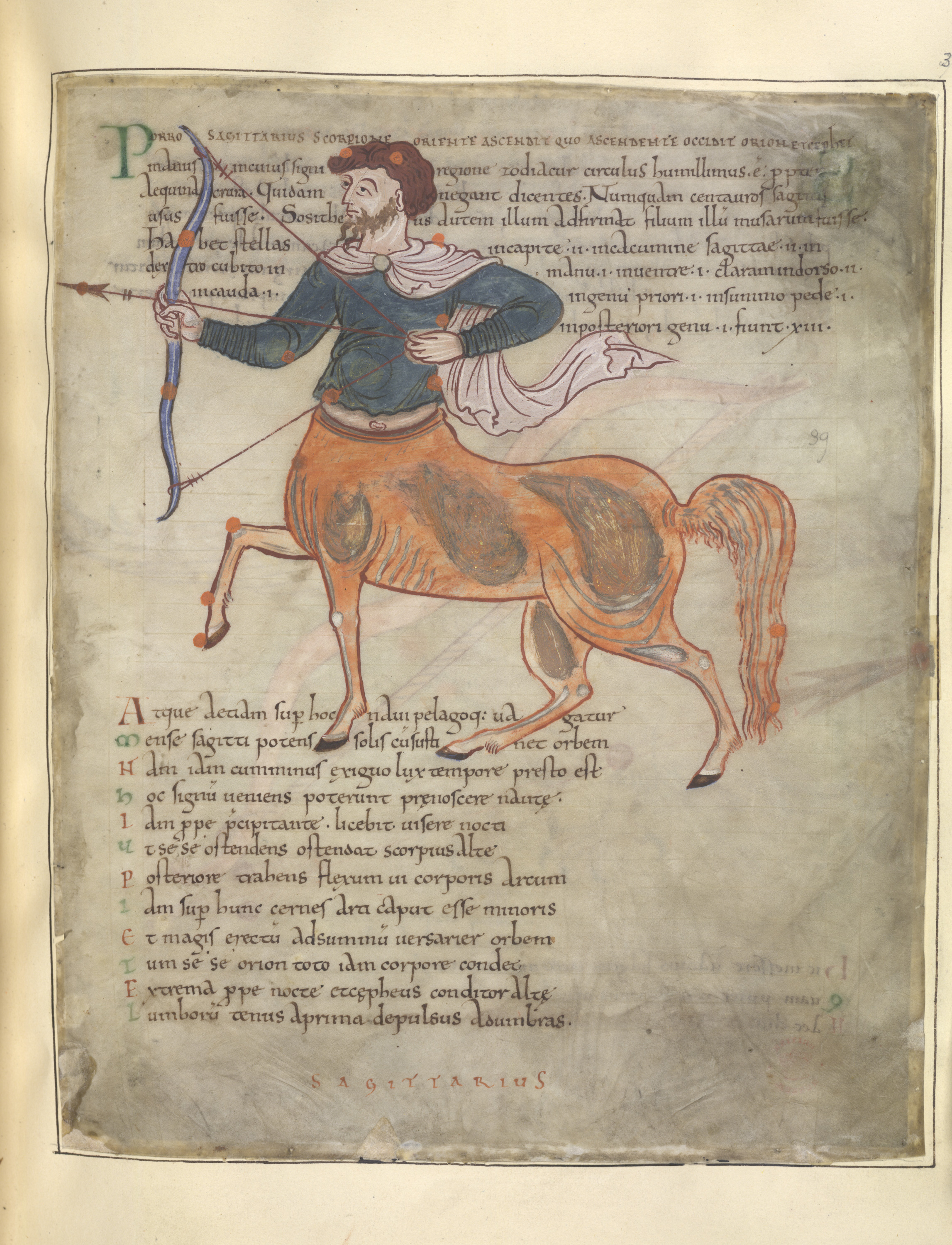 Illustration of centaur from British Library History of Magic exhibition