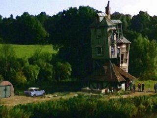 The outside of the Burrow from the Goblet of Fire