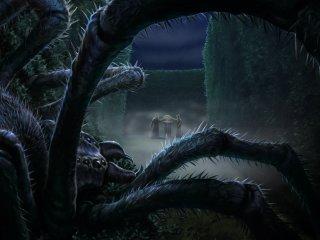 """Une araignée dans le Triwizard Maze avec Harry et Cédric. """"data-img ="""" // images.pottermore.com/bxd3o8b291gf/1QAHma496gi0uaWcGcE2Y4/b231f68f0c29da8c2692eabbe804fe3f/TriwizardMaze_PM_B4C31M1_HarryCedricSpiderInTriwizardMaze_Moment.jpg""""/></picture></div> <div class="""