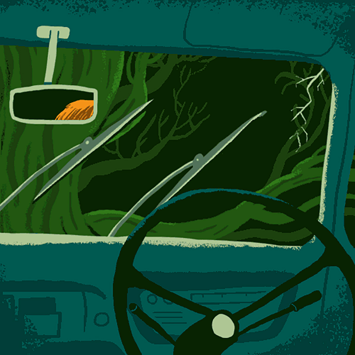 Illustration of the Ford Anglia interior from Read the Magic