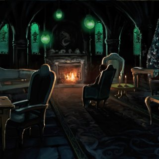 The Slytherin Common Room With Draco From Chamber Of Secrets