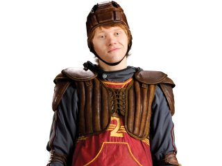 Ron in his keepers outfit from the Half-Blood Prince.