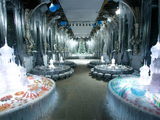 decorations in the Great Hall for the Yule Ball