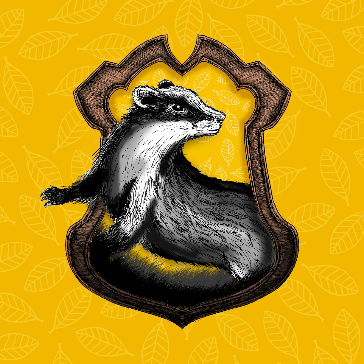 Pottermore Hufflepuff House Crest illustration