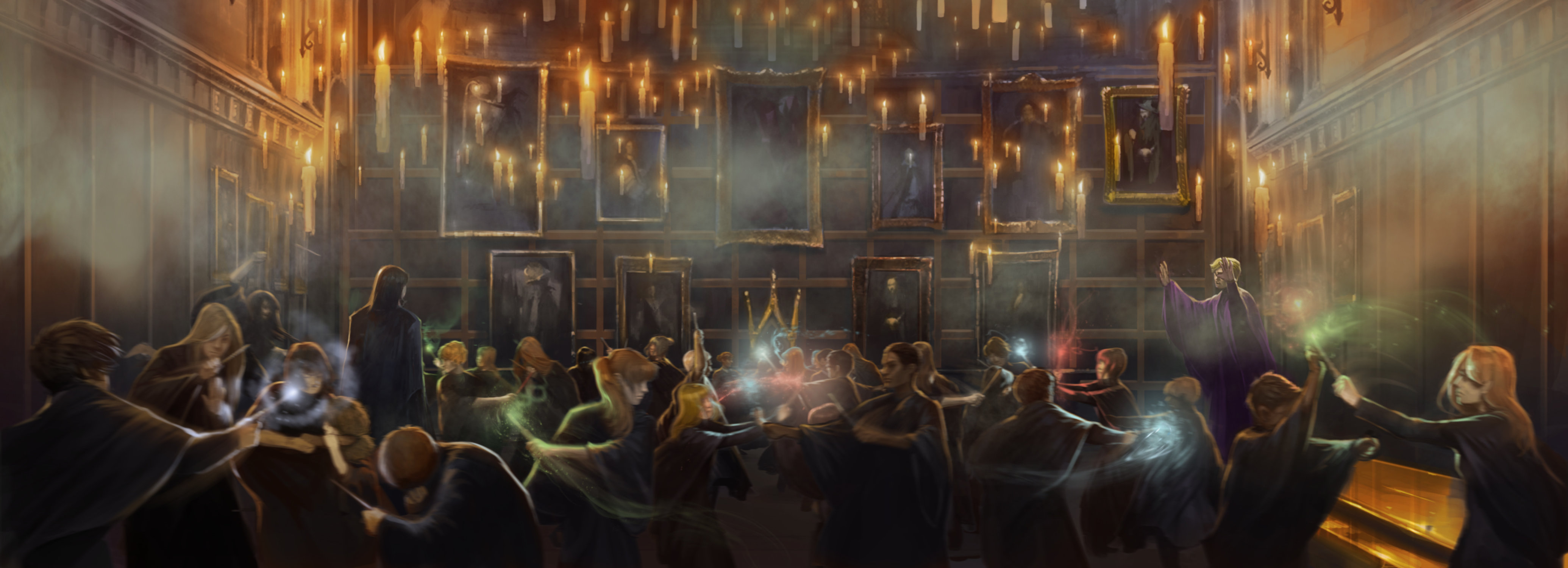 The Great Hall during Duelling Club