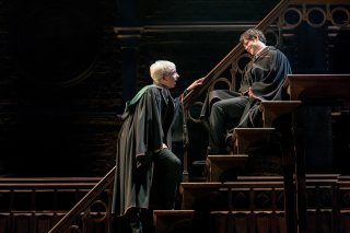 Scorpius and Albus talking on a staircase, from Harry Potter and the Cursed Child