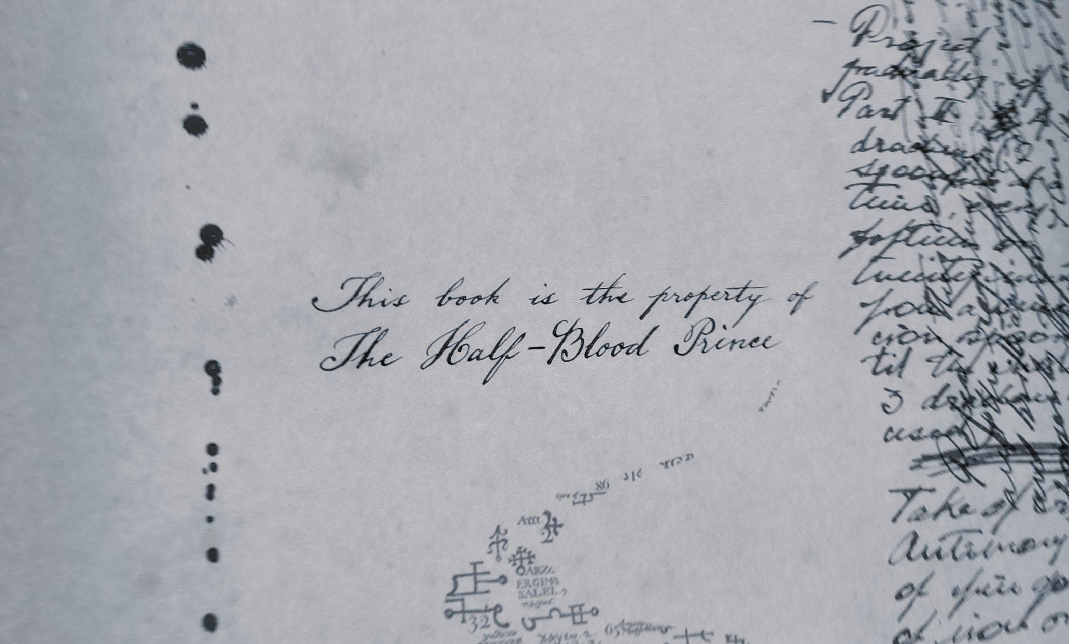 Front page of the Half-Blood Prince's book