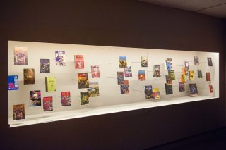 Collection of Harry Potter books from the British Library exhibition, A History of Magic