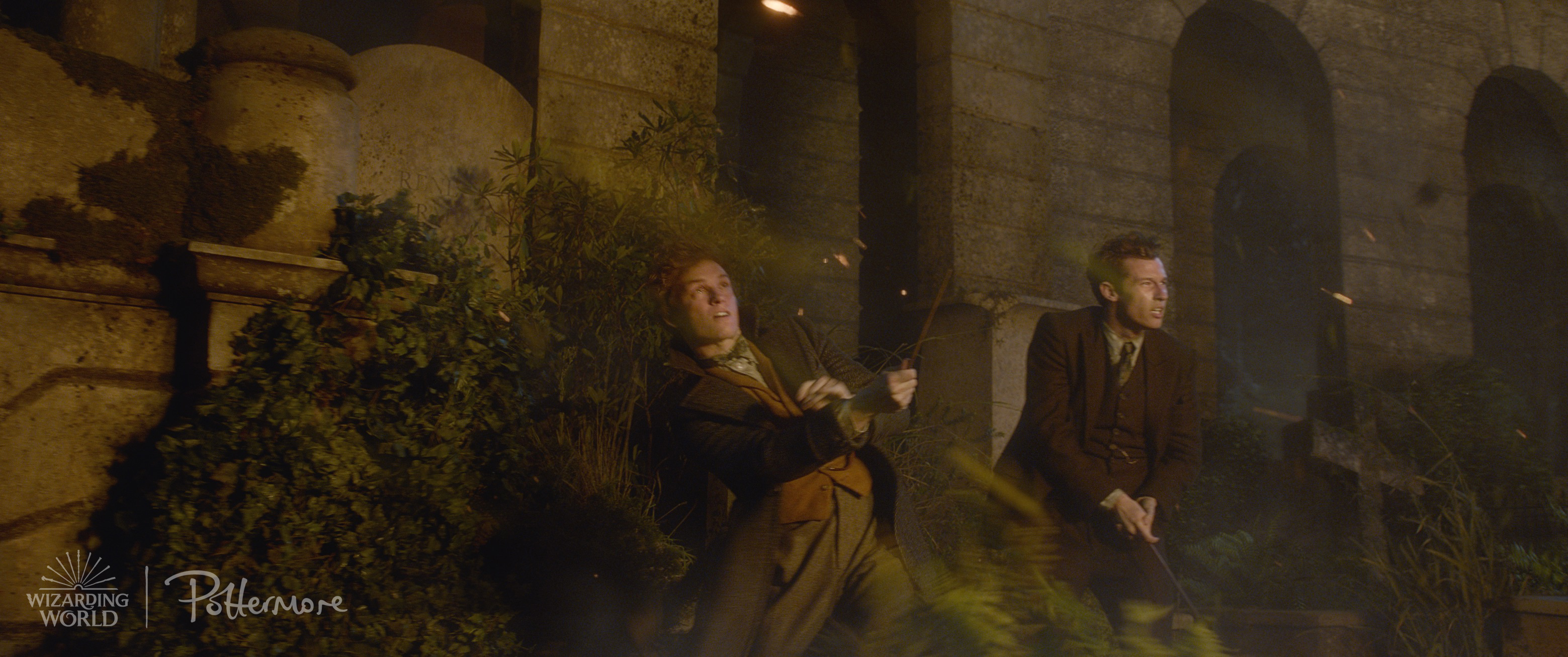 The Scamander brothers, Theseus and Newt, from the Fantastic Beasts: Crimes of Grindelwald trailer