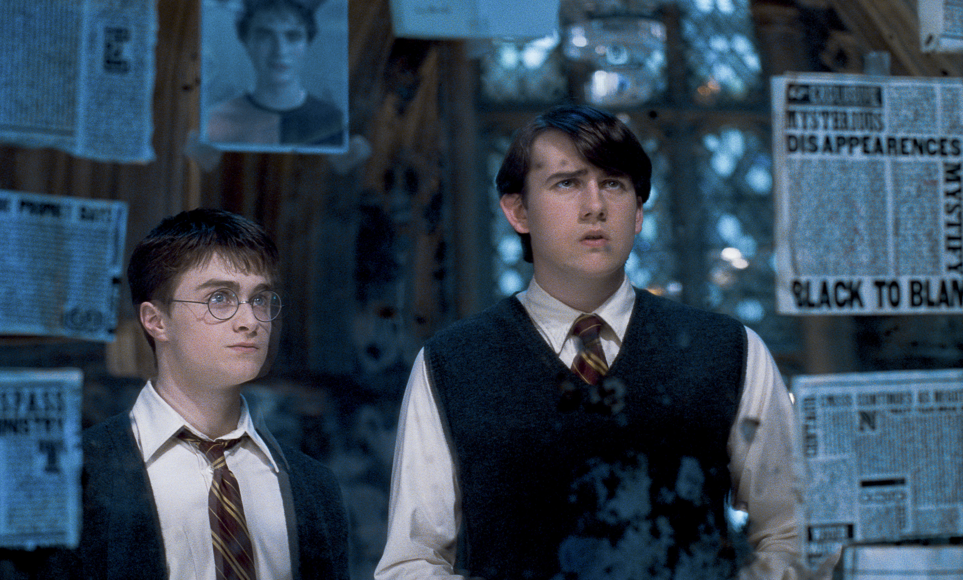 Harry and Neville in the Room of Requirement from the Order of the Phoenix
