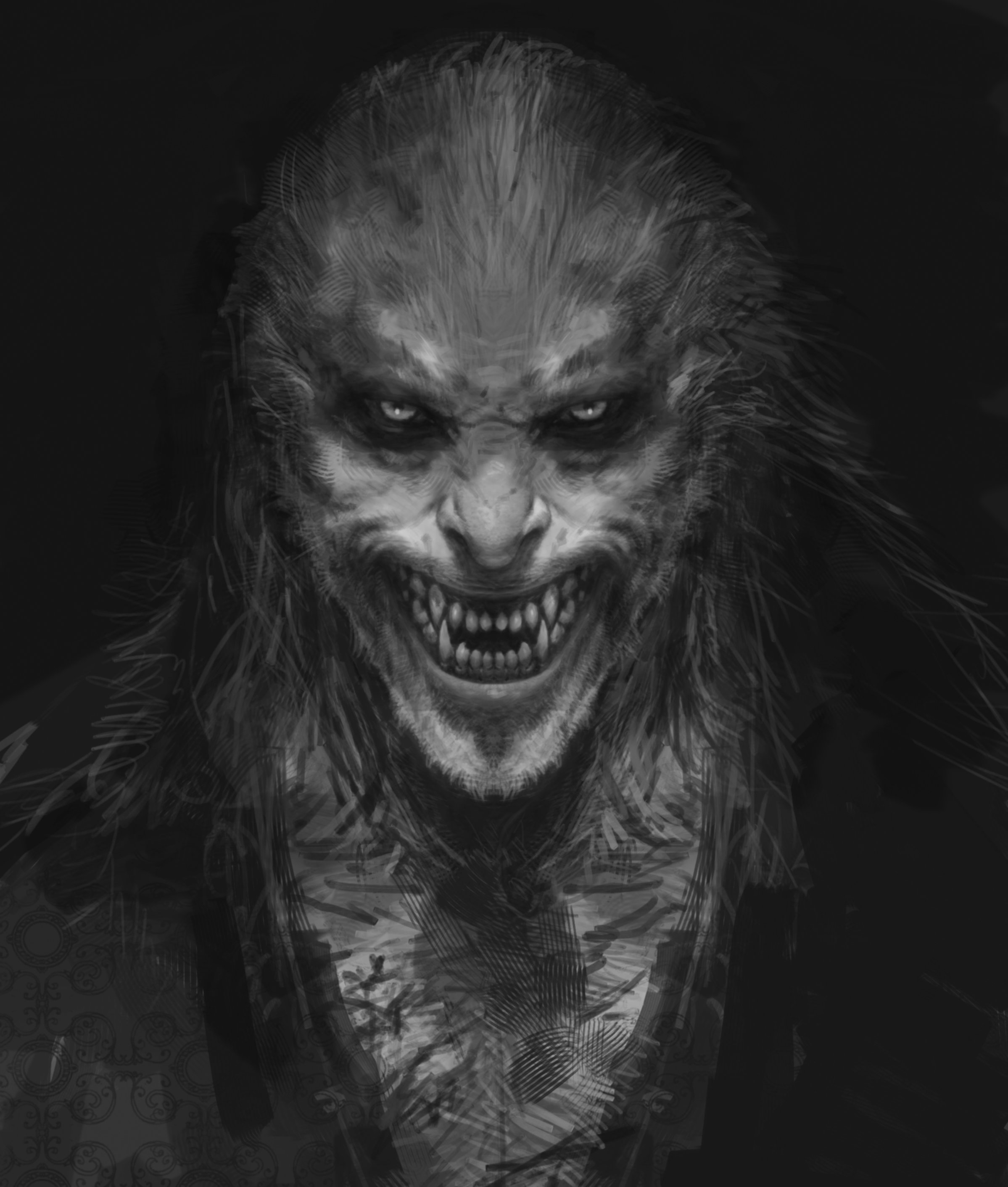 Concept art for Fenrir Greyback.