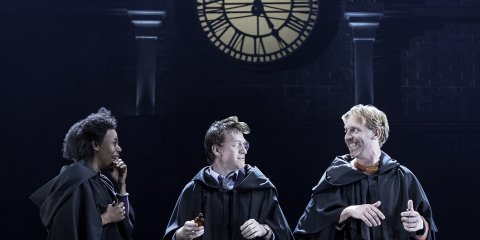 Hermione Harry And Ron Wearing Robes From Potter The Cursed Child
