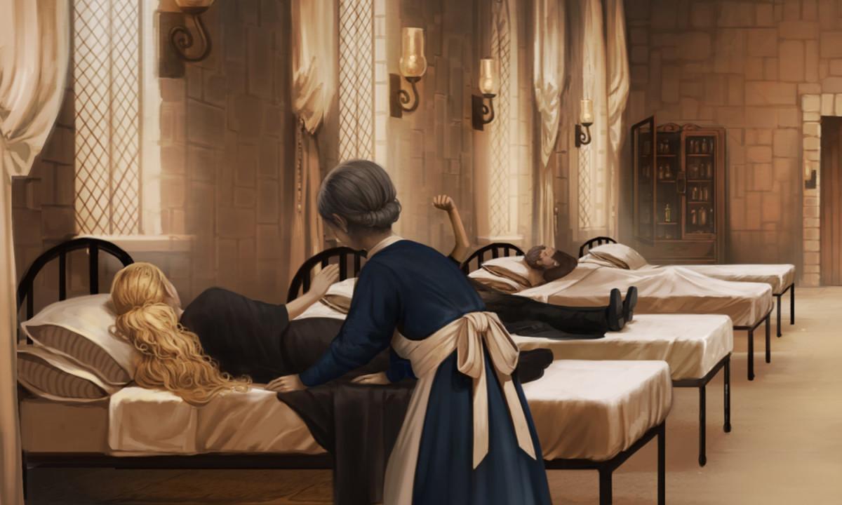 Harry Potter Book Art Hogwarts Madam Pomfrey - Potter...