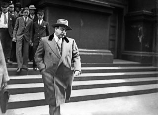 Al Capone on the day of his release from jail, Chicago, 1939