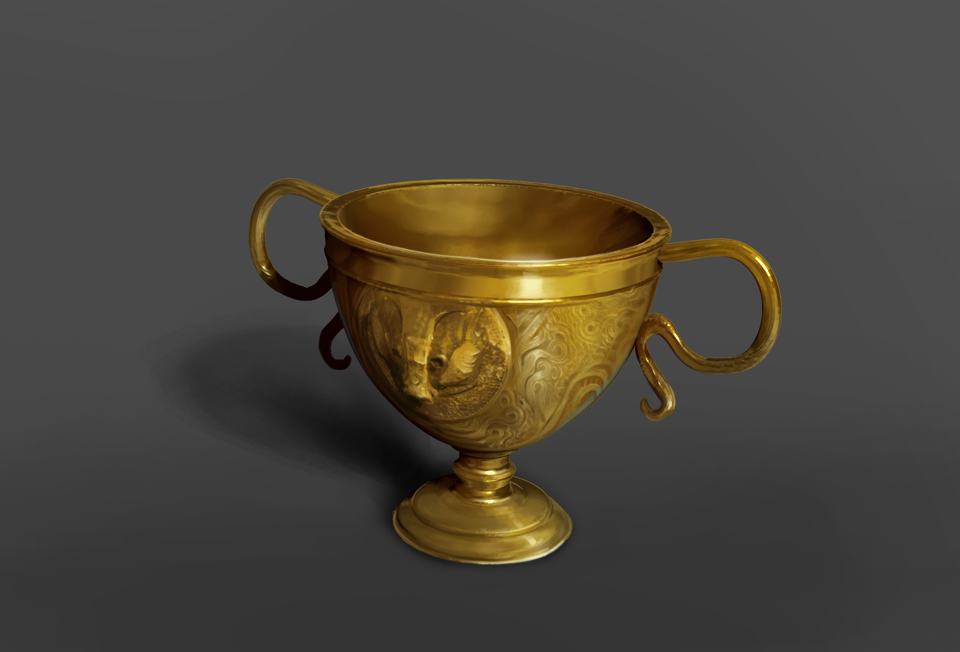 Illustration of Helga Hufflepuff's cup